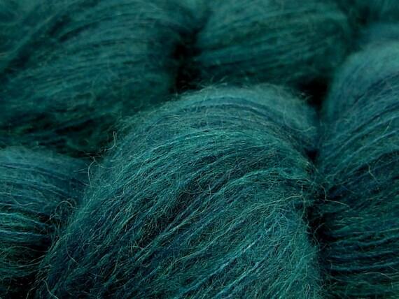 Kid Mohair/Silk Yarn, Hand Dyed - Deep Sea Tonal - Limited Edition