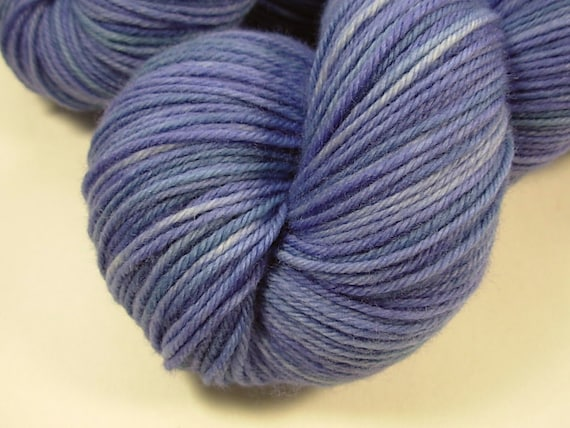 Sport Weight Superwash Merino Wool Yarn, Hand Dyed - Delphinium