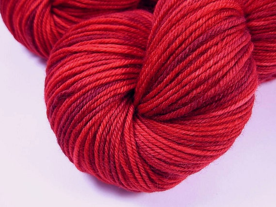 Sport Weight Superwash Merino Wool Yarn - Ruby Tonal - Hand Dyed Yarn ...