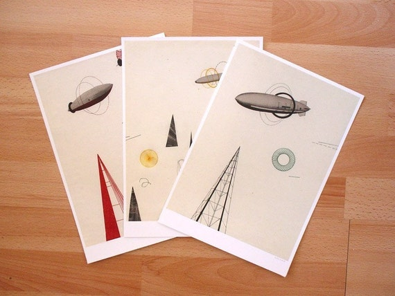 Zeppelins Series - Set of 3 Prints