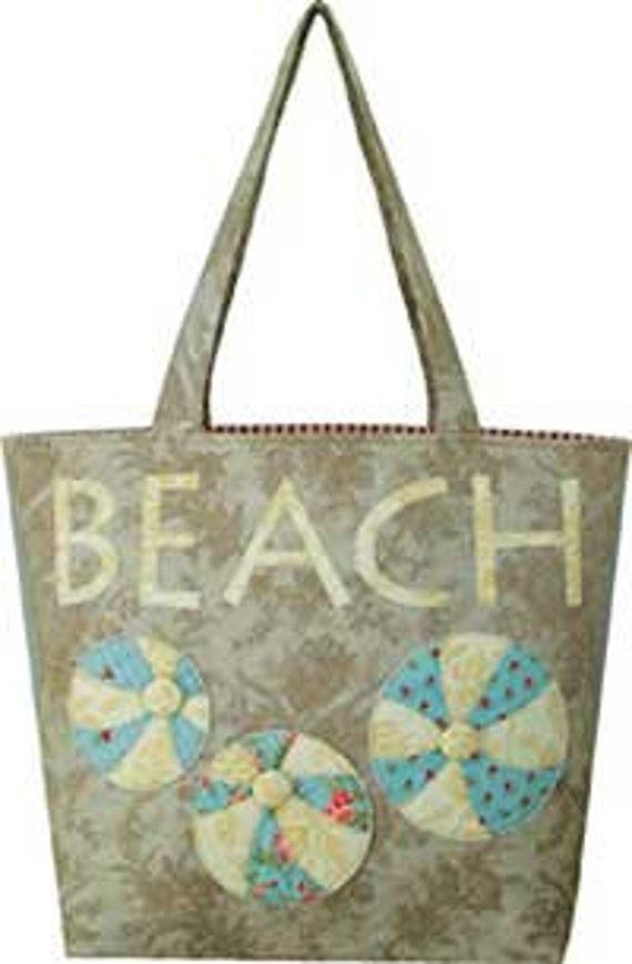 Artful Offerings Vintage Beach Tote Bag HANDBAG  sewing quilting PATTERN - NEW