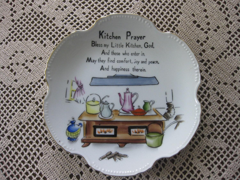 Kitchen Prayer Decorative Plate By Heartlandheirlooms On Etsy