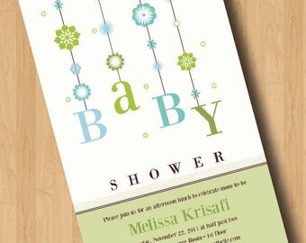 Baby Mobile - Baby Shower Invitations