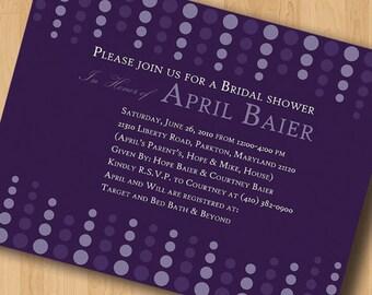 Circles Galore - Bridal Shower Invitations - Digital Design