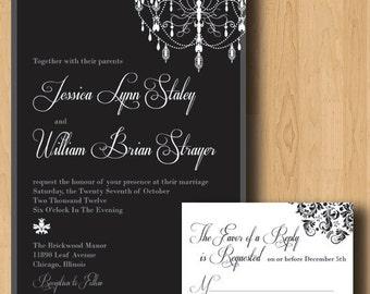 Chandeliers Wedding Invitation Suite