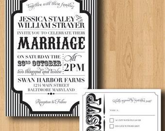 Carnival Halloween Wedding Invitation Suite