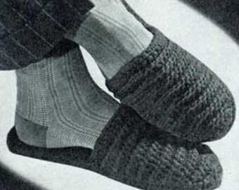 Men's Crochet Slipper Patterns 2 Different PDF Instant Download