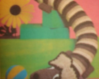 Dachshund Dog Crochet Toy Pattern Door Draft PDF Instant Download