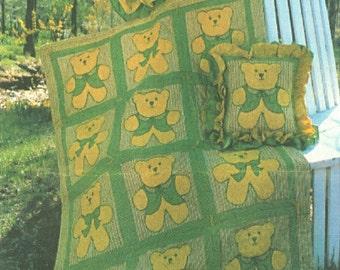 Teddy Bear Quilt Pattern Quilt Pillow Sham &  Teddy Bear Toy PDF Instant Download