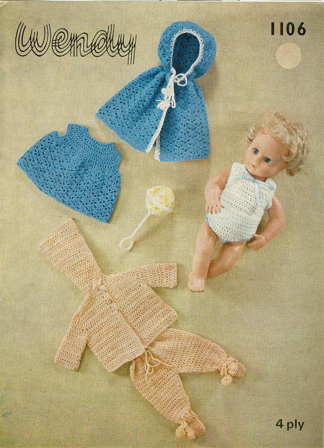 Crochet Pattern Mickey Mouse Doll : Doll Clothes Crochet Pattern 7 Piece Doll Clothes by ...