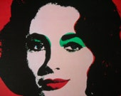 Andy Warhol's Familiar Faces Elizabeth Taylor Reproduction Print