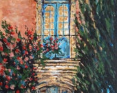 Provence Window and Doorway, 11 x 14 acrylic gallery wrapped canvas, impressionism