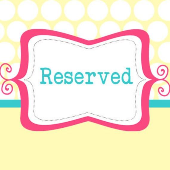 Reserved for Greer