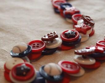 Baseball Button Necklace