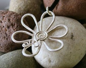 Handcrafted Sterling Flower Necklace