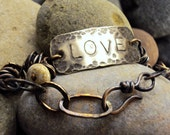 Mixed Metal Love Bracelet