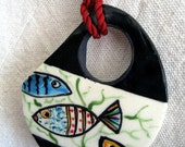 Tropical Fish Ceramic Pendant