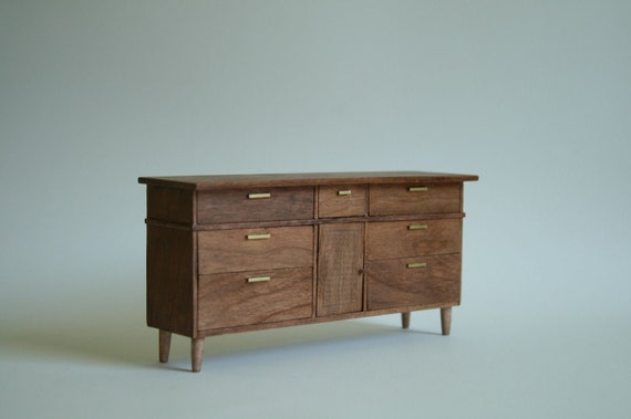 Mid-Century Modern Chest of Drawers in 1:12 Scale