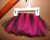 RESERVED for lisaorlandon - pink/back glitter tutu - 0-3 months