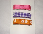 RESERVED LISTING for AMkrabbs - 3 bow barrettes