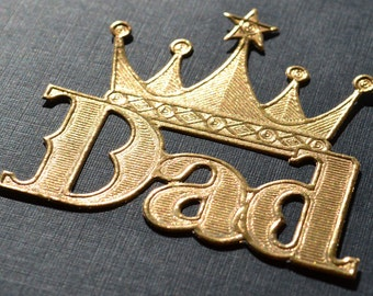 Gold Embossed DAD die cut dresden