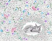 Deer Dwelling Print