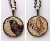 Birds - Vintage / Gothic Photo Pendant Necklaces - 2 Necklaces Available