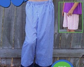 One Pattern Piece PJ Bottoms and Shorts - pdf sewing pattern -digital download-