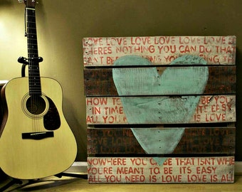 Rustic - Wedding - All You Need Is Love - Wood Sign - Pallet Art