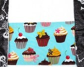 Blue Cupcake Hand Towel