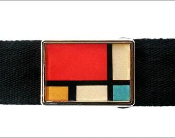 Mondrian Art buckle