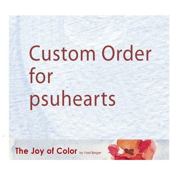 Custom order for psuhearts