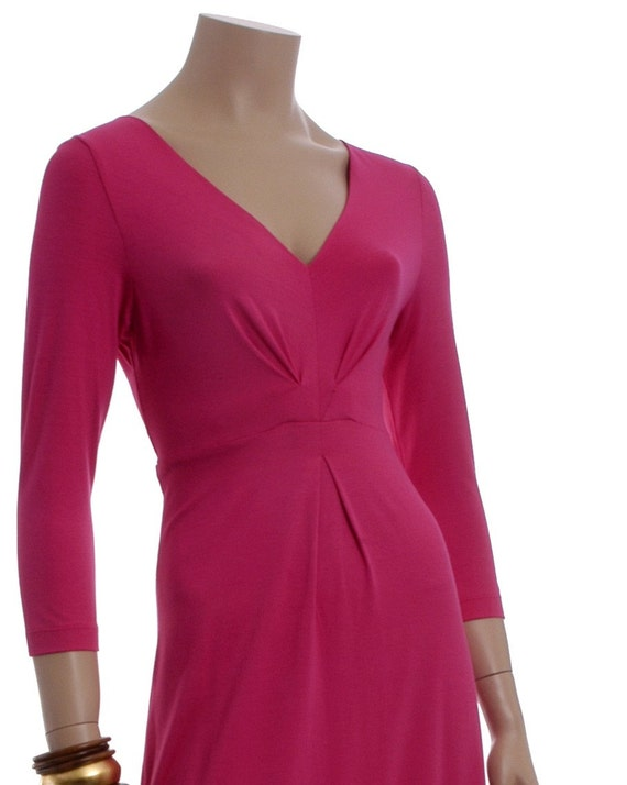 Sophisticate soft jersey A-line dress with darts detailing