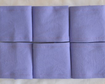 SALE 6 PURPLE Cotton Triple Layer Napkin Rings - Add some zing to your table settings by mixing and matching colours in your napkins.