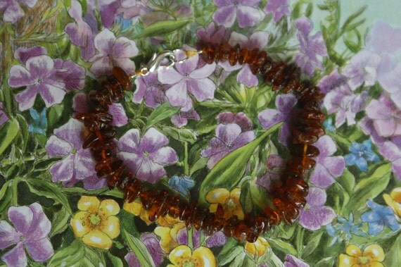 Adult Dark Baltic Amber Bracelet, Anti-Inflammatory and Reiki Charged, 7.25 inches