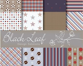 Baby Boys and Their Toys Digital Paper for Scrapbooking, Cards, Invites, Photographers Marketing Kits Tools, Crafts