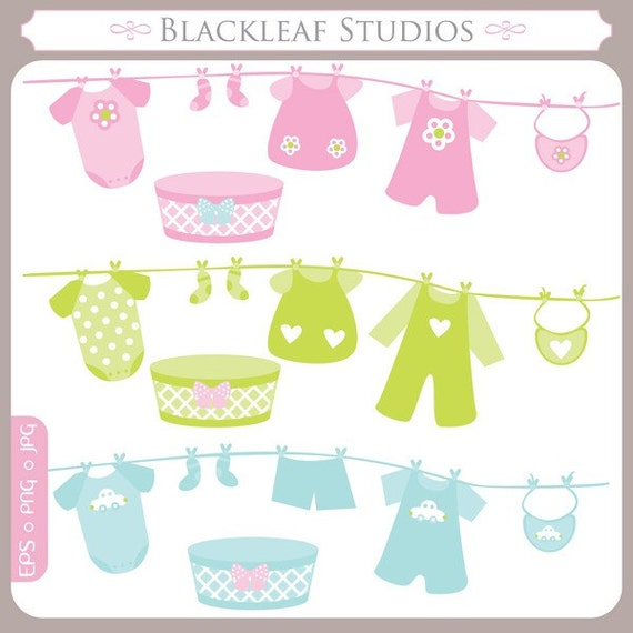clip art instant download laundry clothes pin baby baby shower