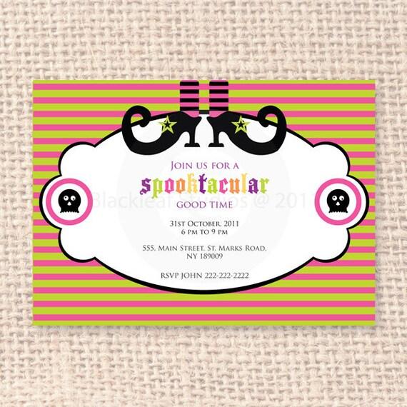 Halloween Invitation DIY Printable for Halloween or Magic Theme Birthday Party