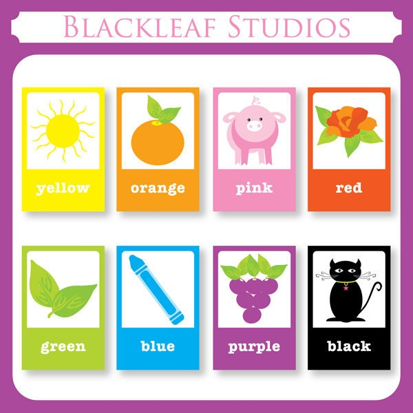 Printable Colour Flashcards : Color Flash Cards DIY Printable for toddlers primary