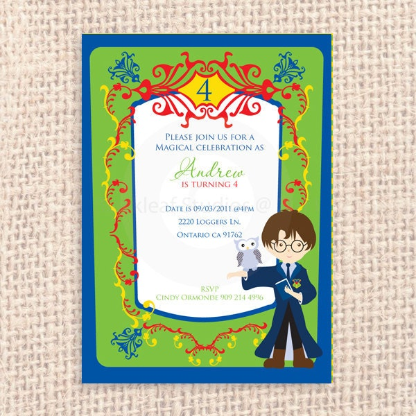 Hogwarts thank you – Personalised Birthday Thank You Cards