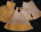 Dress and Undergarment Pot Holders