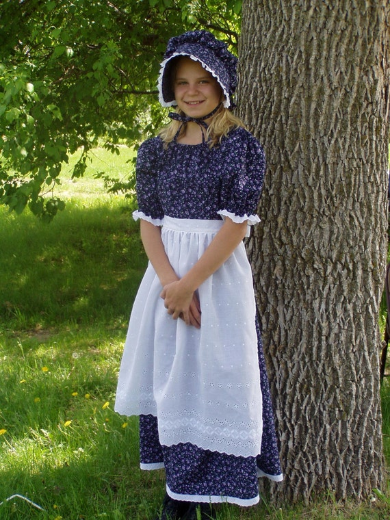 Girls Pioneer Prairie Colonial Dress Costume Choose Your Size-6318