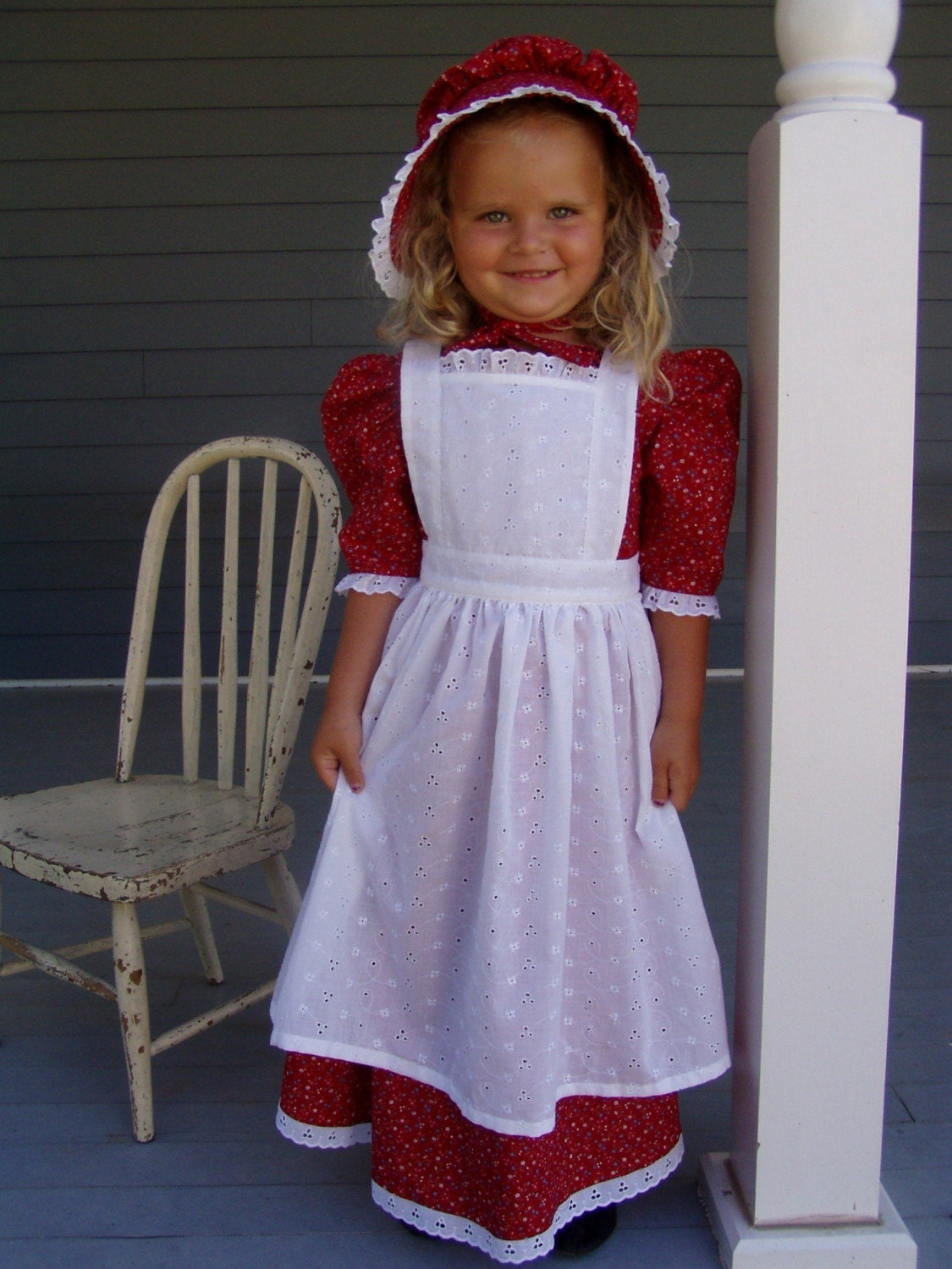 New Girls Pioneer Prairie Dress Costume Choose Size-3035