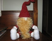 Christmas Gnome Handknit toy
