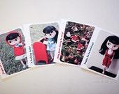 blythe photo cards, christmas