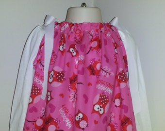 STORE CLOSING, Owl Be Yours, Pillowcase Dress, Valentines, Size 4t, RTS
