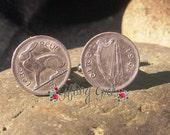 Authentic Irish 3 Pence Cufflinks - Groomsmen Package Available