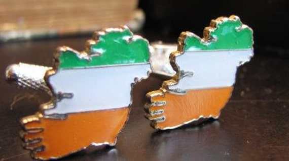Vintage Style Ireland (Éire) Tri Color Cufflinks- OnLy PaIr AvAiLaBlE