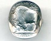 Buffalo Nickel Coin Ring (E-504)