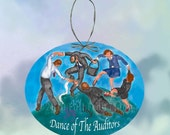 The Dance of the Auditors  Paper Ornament